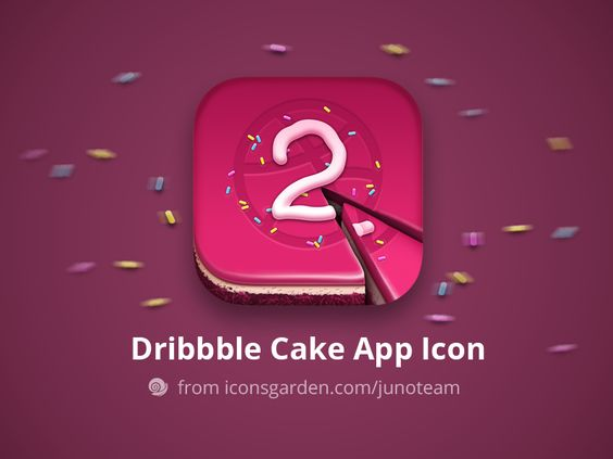 Free PSD Dribbble Cake app icon - 27