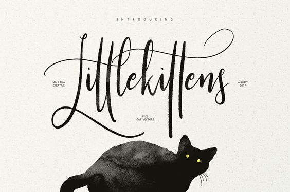 Little Kittens Typeface - Free Vector par Maulana Creative - 08