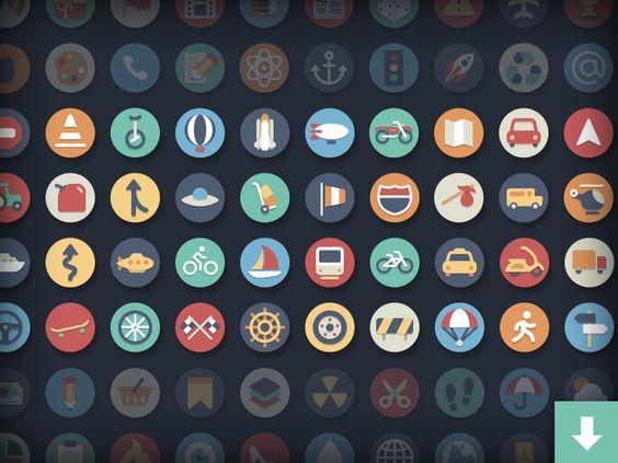 Free Circle Icons: Transportation Add-on par Kenny Sing