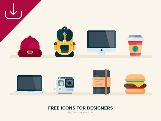 FREE icons for Designers! par Formas Estudio