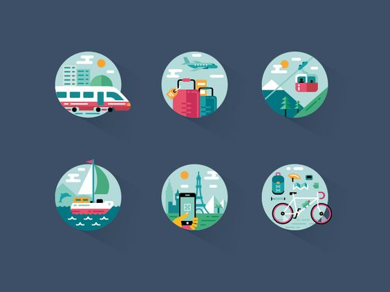 Travel Icons pack par Fireart Studio