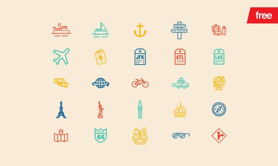 Travel - 30 Vector Icons