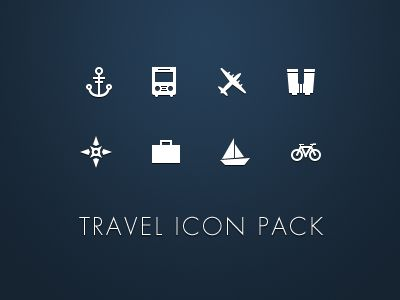 Free Travel Icons par Gavin Elliott