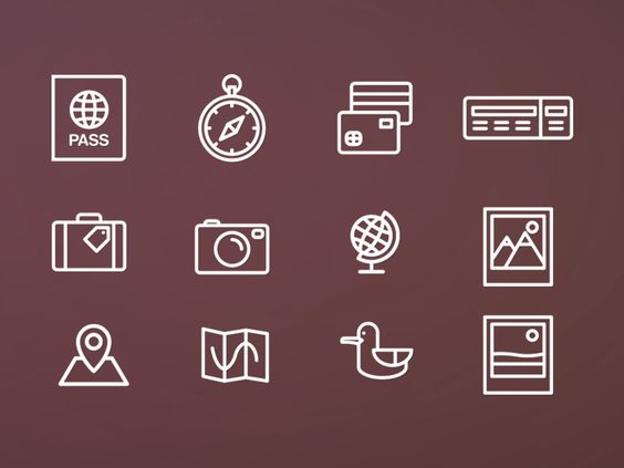 Travel icons pack par Ema Dimitrova