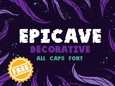 Epicave All Caps Display Free Font by Olga Davydova - 04/09