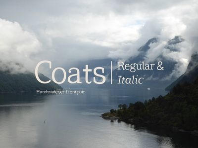 Coats Regular & Coats Italic - 18/09