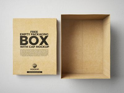 Free Packaging Box With Cap Mockup PSD par Mockup Planet  - 17