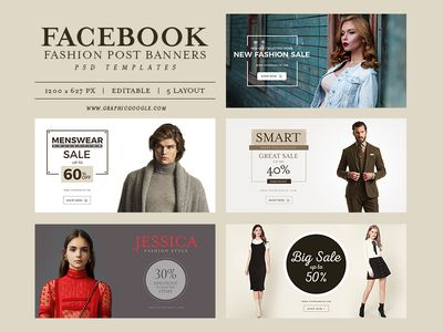 5 Free Facebook Fashion Post Banners PSD Templates - 18