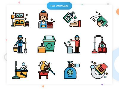50 Free Cleaning Icon Set   Vector, PSD, EPS, SVG, PNG, par Infinite Cube - 23