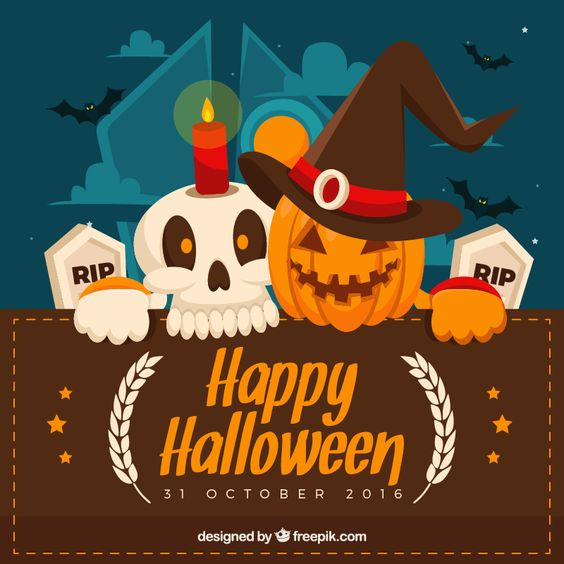 FREE Halloween Greeting Cards Illustration par MONSTERLELE Studio
