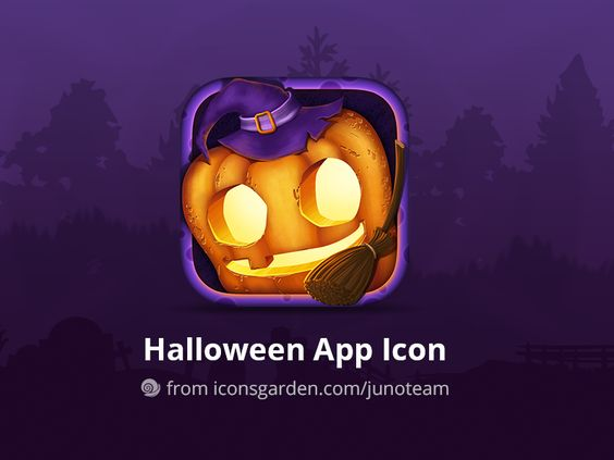 Free PSD Halloween Pumpkin app icon