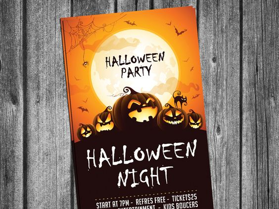 Free Halloween Party Invitation Card PSD par Aliiqbal
