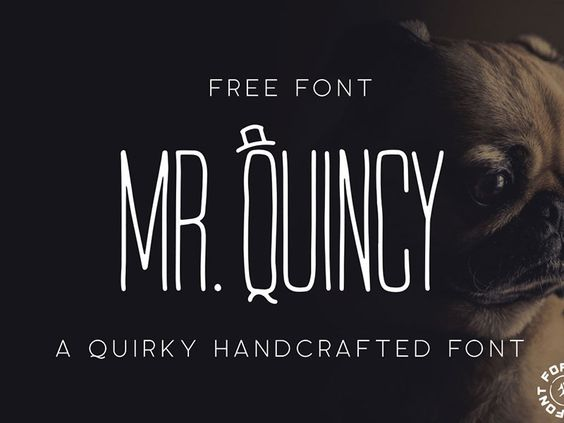 FREE FONT - Mr. Quincy - A Quirky Handcrafted Font - 08