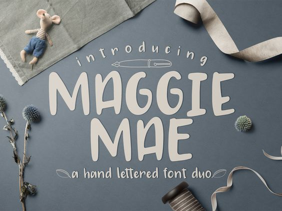 FREE Maggie Mae Font Duo - 19