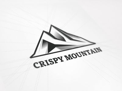 New Logo Design for Crispy Mountain par Gert van Duinen