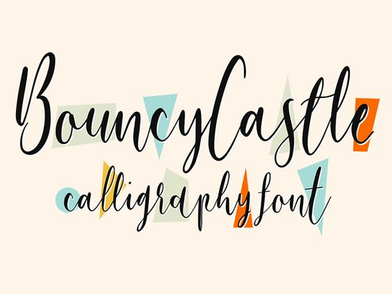 Free Bouncy Castle Modern Calligraphy Font by Tom Chalky - 21/11