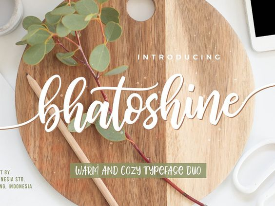 Bhatoshine - Fancy Font Duo ( FREE Download ) by Kl1T - 20