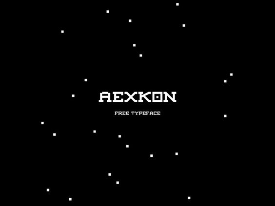 AEXKON | free typeface by Aung Ko - 27/11