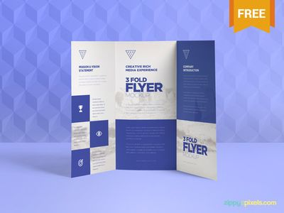 Free & Graceful 3 Fold Brochure Mockups - 13