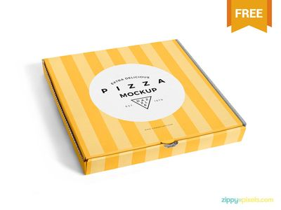 Free Delicious Pizza Box Mockup par ZippyPixels - 06