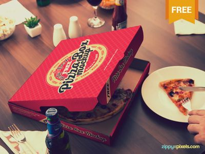 Free Finger-licking Good Pizza Mockup - 12