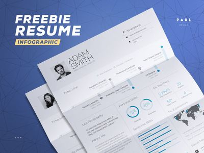 Free Infographic Resume par Paul