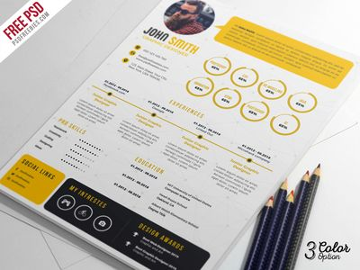 Creative Resume CV PSD Bundle