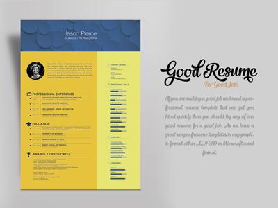 Free Resume Template for Graphic Designer & Art Director
