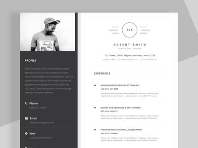 Freebies - Resume/CV PSD Template