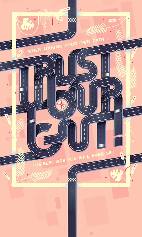 Trust your gut! Poster par Lorena G