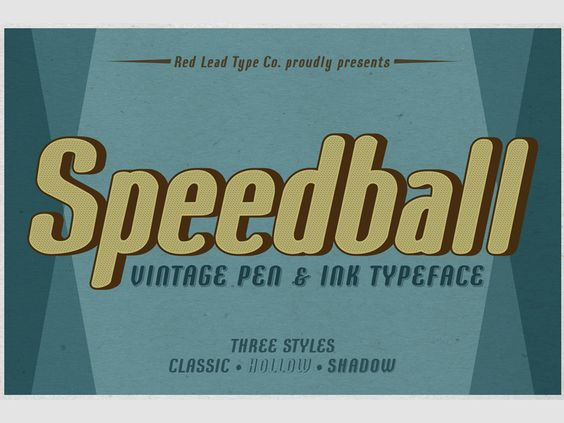 Speedball Pen & Ink Typeface - 09