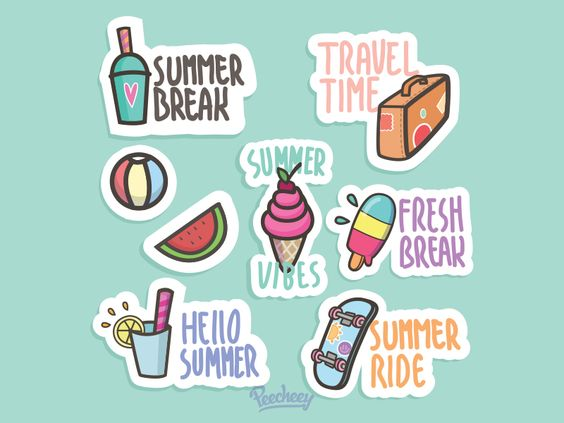 Summer Stickers againpar Peecheey