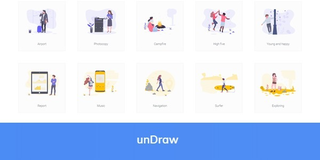 unDraw : une collection de 281 illustrations en SVG sous licence MIT