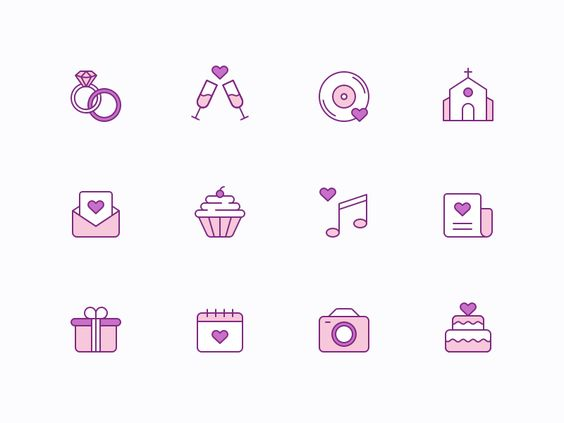 Free Wedding Icons par Helen Skripchenko - 03