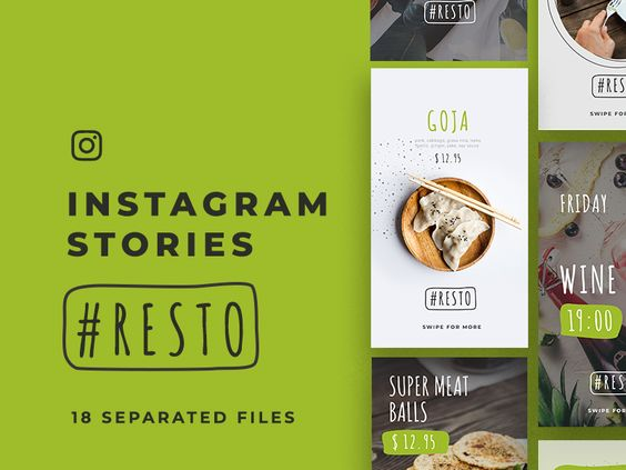 Resto Instagram Stories/ 18 Free PSD 17