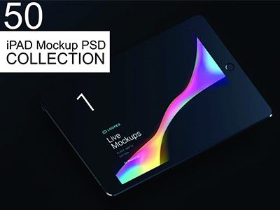 50 iPad Mockup PSD Templates 2018 Collection par the designz 25