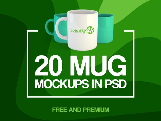 20 Free and Premium Mug MockUps in PSD - 21