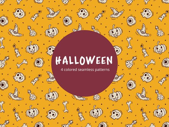 Halloween Vector Free Seamless Pattern