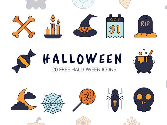 Halloween Vector Freebie Icon Set