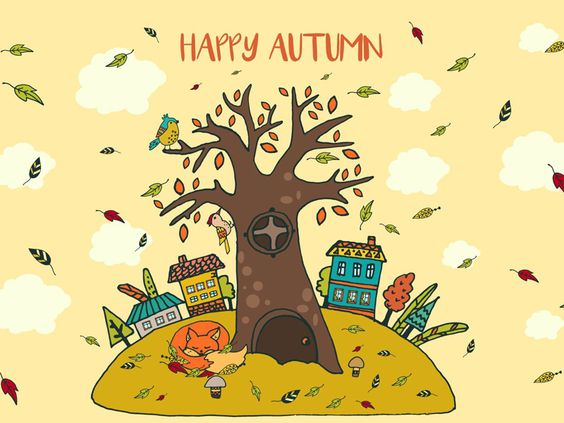 Happy Autumn Freebie Vector Illustration
