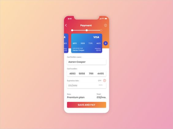 #002 Credit Card Checkout par Yan Asadchy