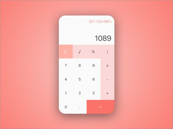 Simple Calculator #dailyui #004 par Joshua Atmadja