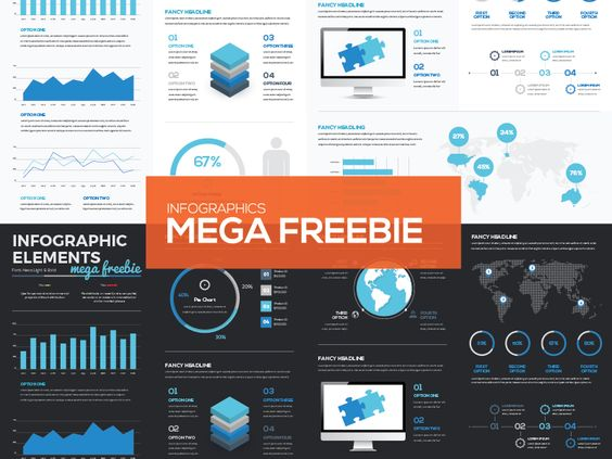 [FREEBIE] Mega Collection of Free Infographic Vector Elements