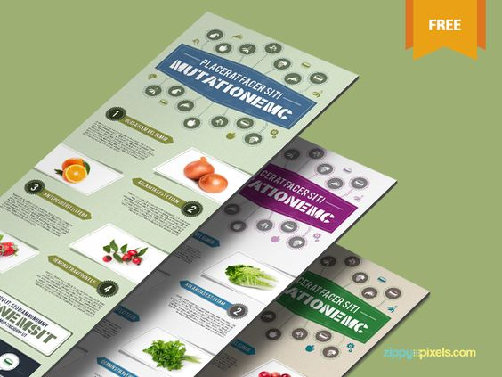Free Infographic PSD Template - Nutrition Theme