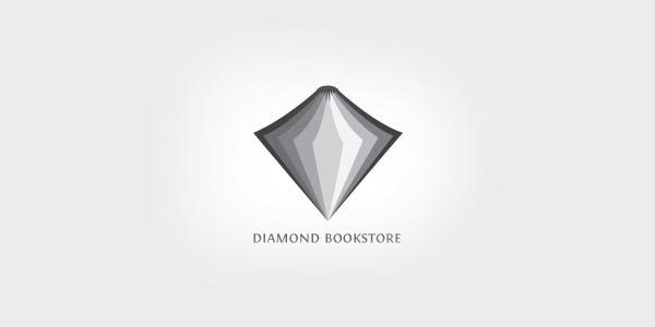 diamond-bookstore-logo-inspiration