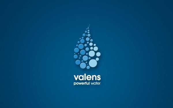 Valens Water Energy Drink Identity