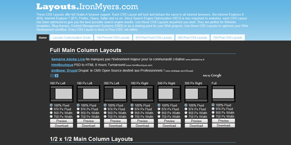 Layouts CSS