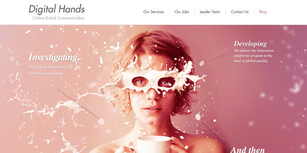 digital hands web design