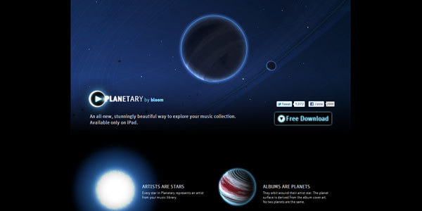 Planetary: A Visual Music Player for iPad by Bloom Studio, Inc.