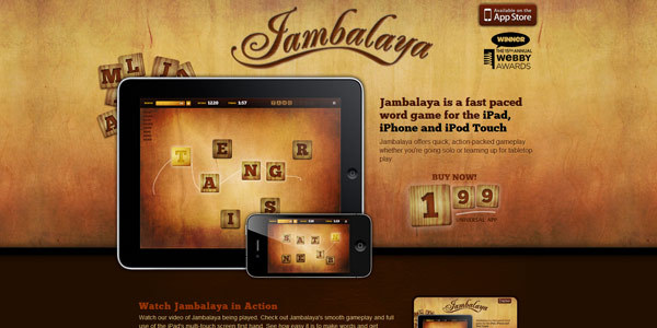 Jambalaya · A Fast Paced Word Game for the iPad, iPhone & iPod Touch!
